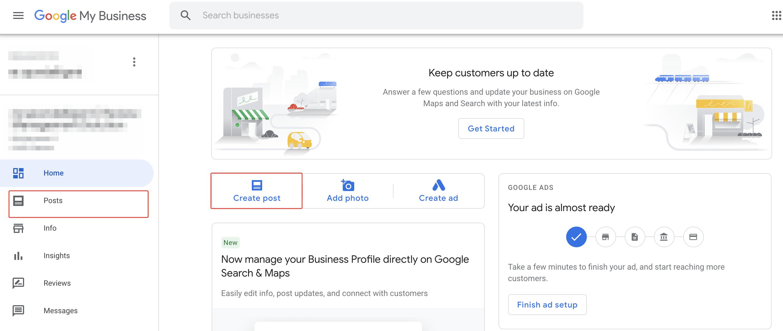 Google_posts_interface