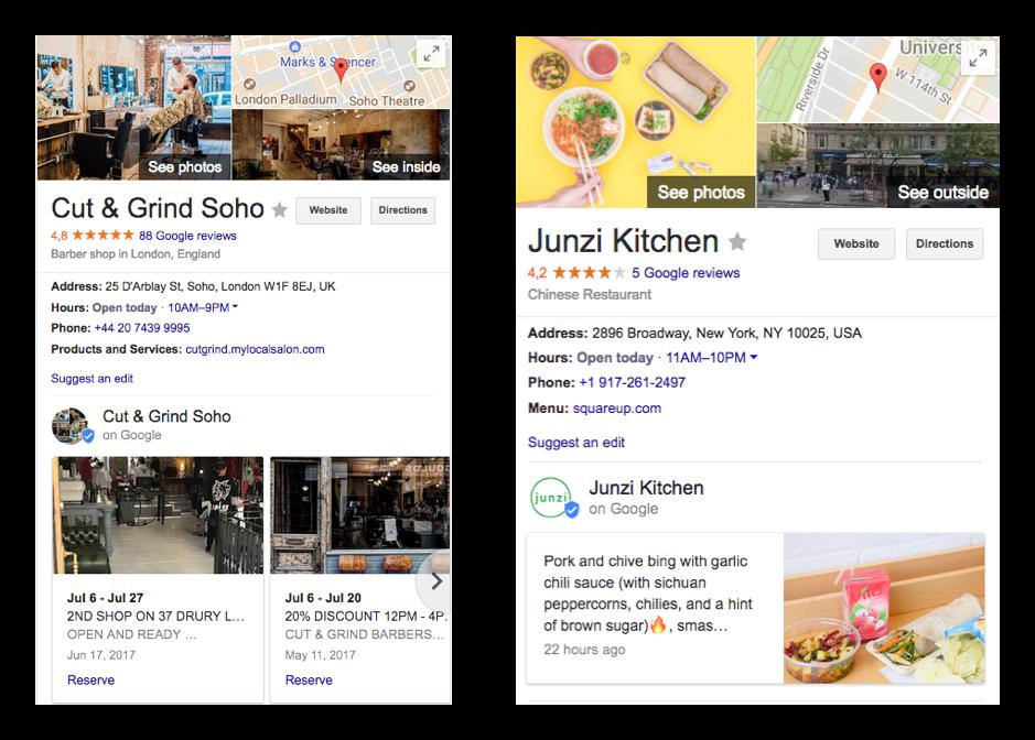 Google posts examples