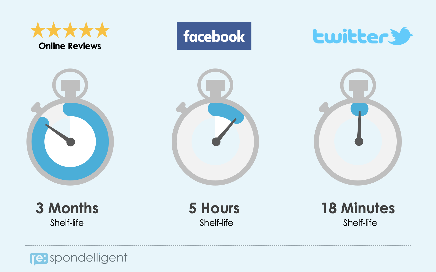 The Lifespan of online reviews and social media posts
