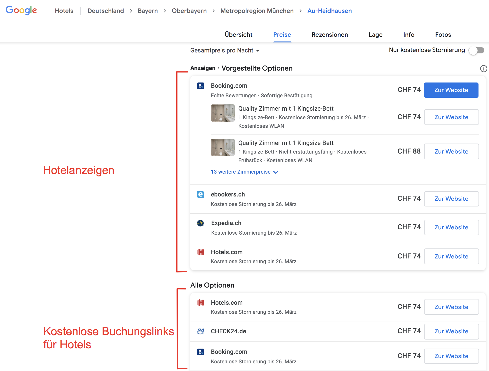 Google_Hotel_Ads_kostenlose_Buchungslinks