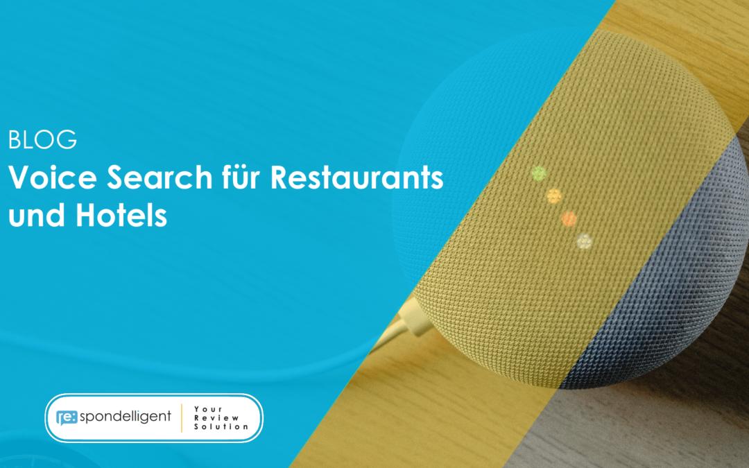 Voice Search für Hotels und Restaurants